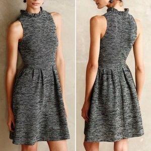 Ganni | Tweed Pinacle Midi A-Line High Neck Dress